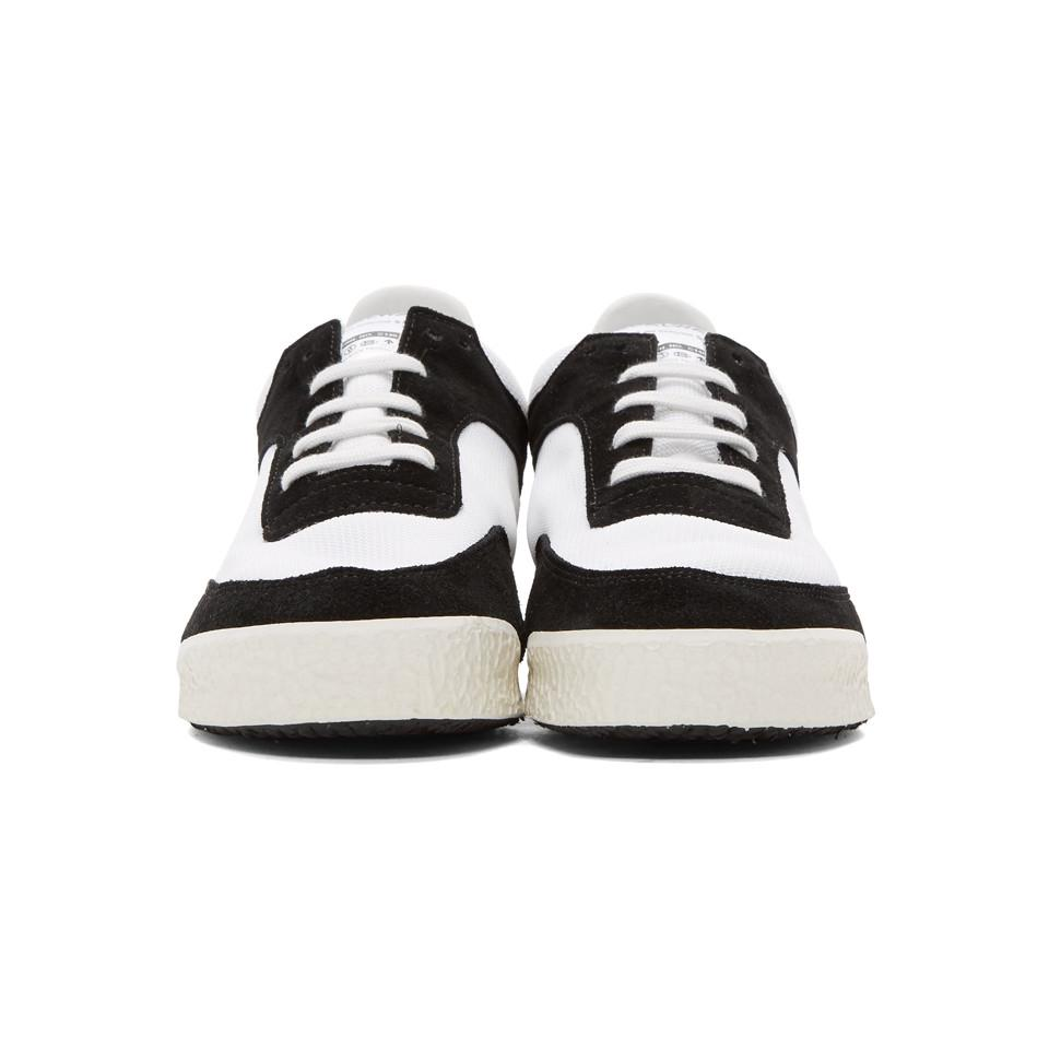 Black and White Pitch Low Sneakers Comme Des Gar?ons e89Lw