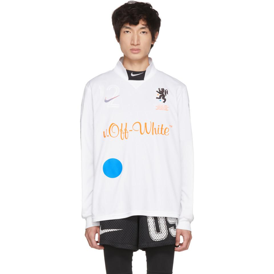 d4aeb9d7c7dfcf Lyst - Nike White Off-white Edition M Nrg Carbon Home Jersey T-shirt ...