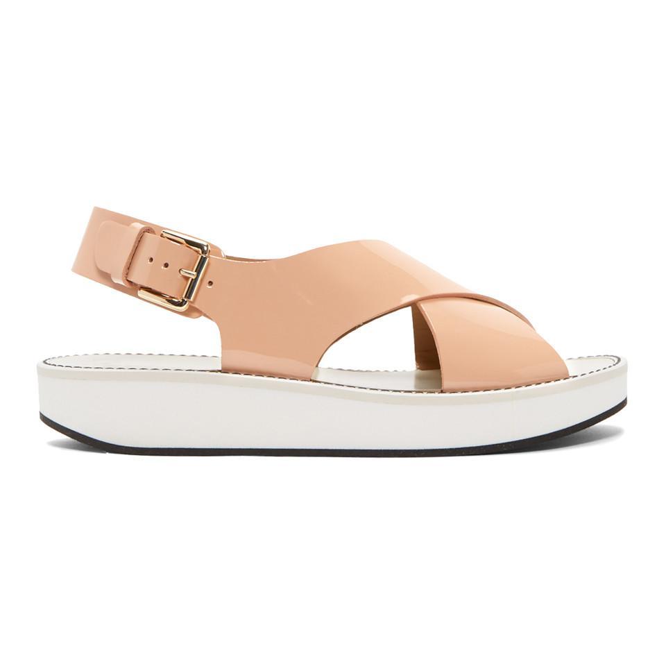Flamingos Pink Patent Avalon Sandals lzqtBA