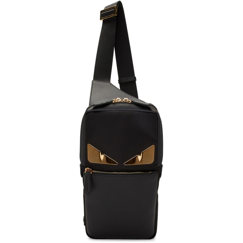 5b877ac5f12 Fendi Black Bag Bugs Golden Messenger Bag in Black for Men - Lyst