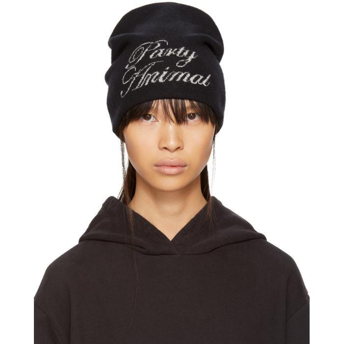 Party Animal Wool And Cashmere-blend Beanie - Black Alexander Wang eIACz
