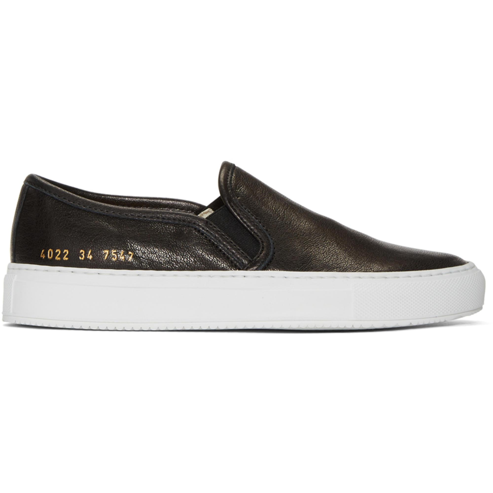 Woman by Common Projects SSENSE Exclusive Black Tournament Slip-On Sneakers fEEUs5Hws