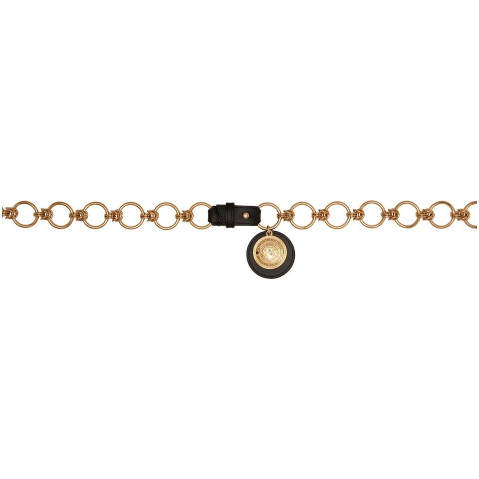 Gold Chain High Waisted Belt Balmain BWD6Bdrf