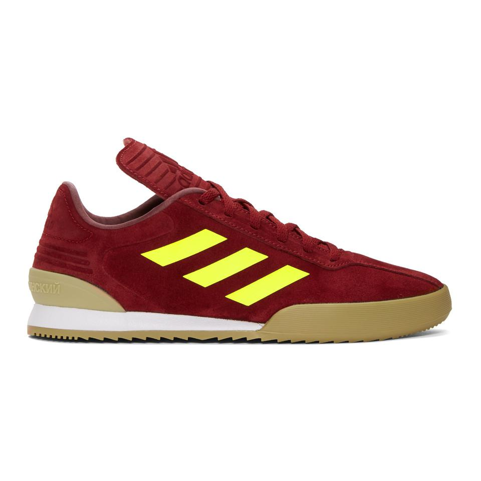 Hurry Up Clearance 2018 New Burgundy adidas Originals Edition Copa Super Sneakers Gosha Rubchinskiy Manchester Cheap Online Original JyPo39DT6