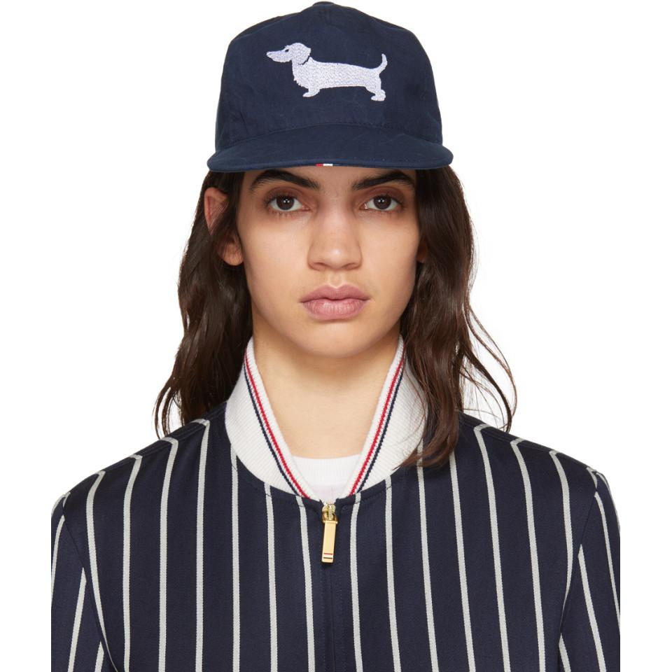 Navy Hector Icon Five-Panel Baseball Cap Thom Browne 8GOTIJVNZ5
