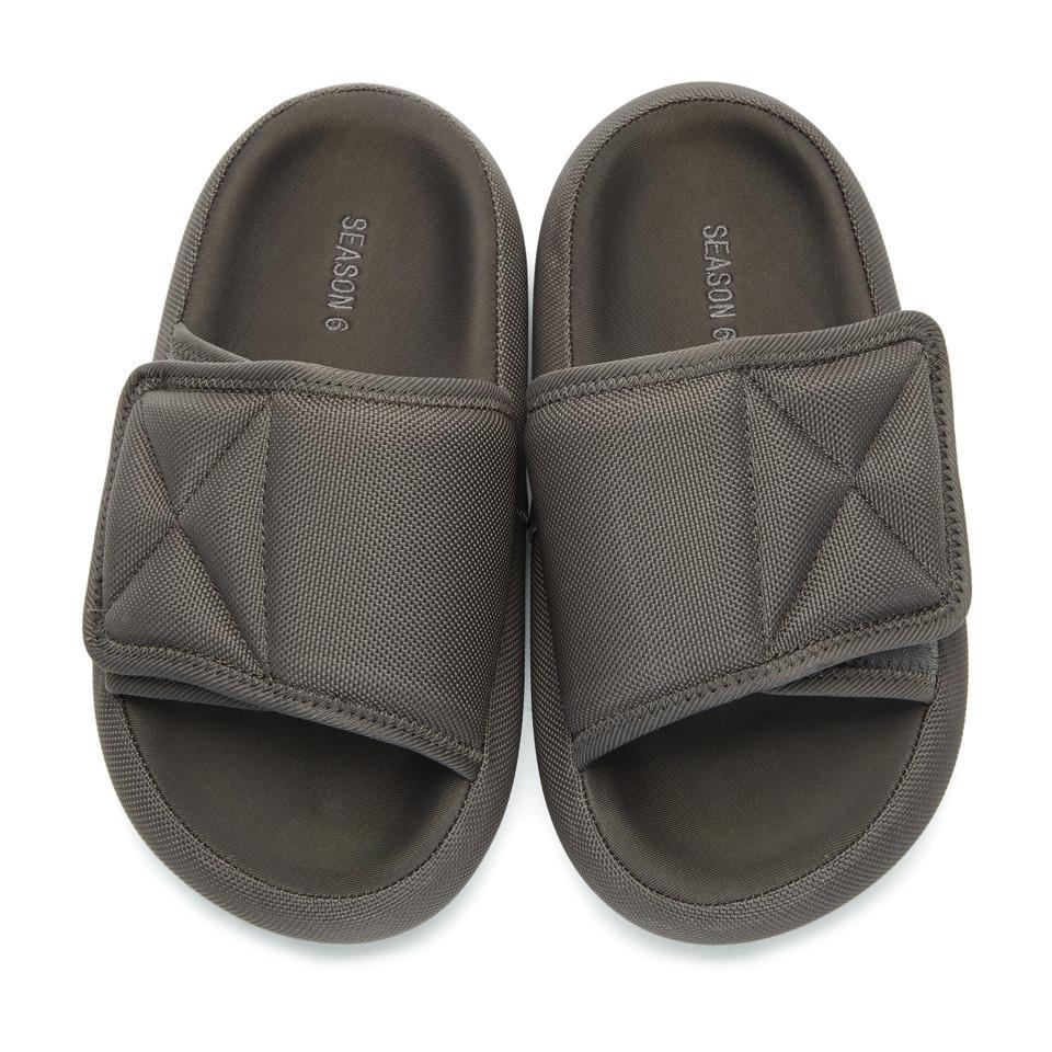 5405fa54f Lyst - Yeezy Grey Nylon Slipper Sandals in Gray for Men