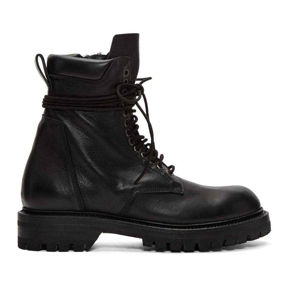 Sale Popular Cheap Shopping Online low army boots - Black Rick Owens Explore Cheap Online View IaY715M8tl