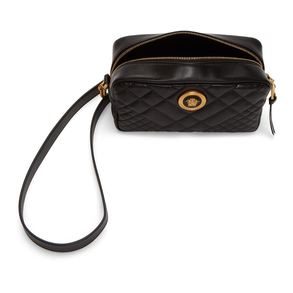 e7121c5ed47d Versace - Black Quilted Medusa Tribute Camera Bag - Lyst. View fullscreen