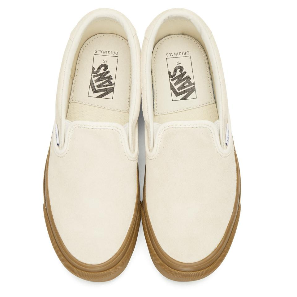 52f9b27a496 Lyst - Vans Off-white Suede Og 59 Lx Sneakers in White
