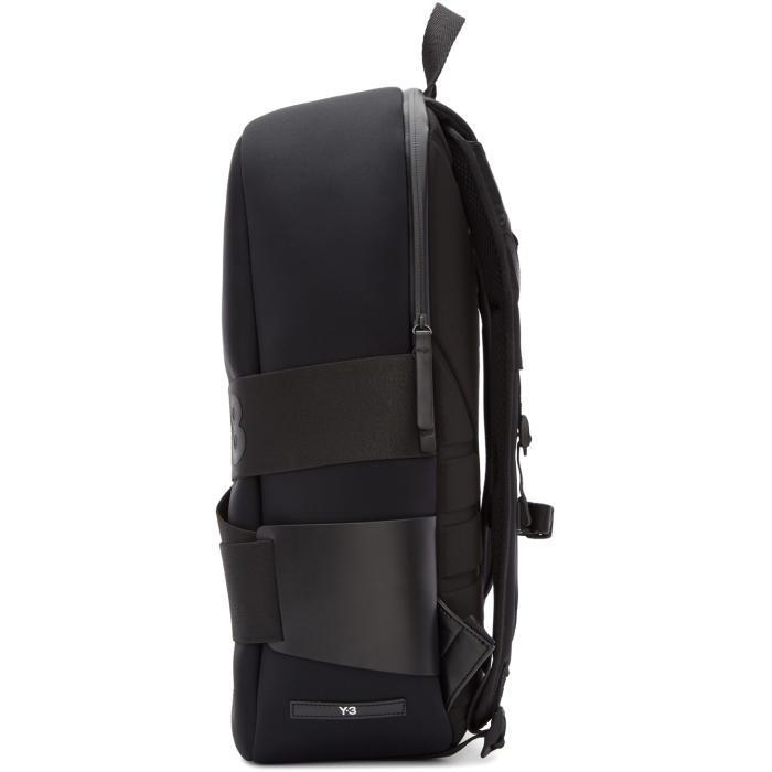 e333fca426 Lyst - Y-3 Black Neoprene Qrush Backpack in Black for Men