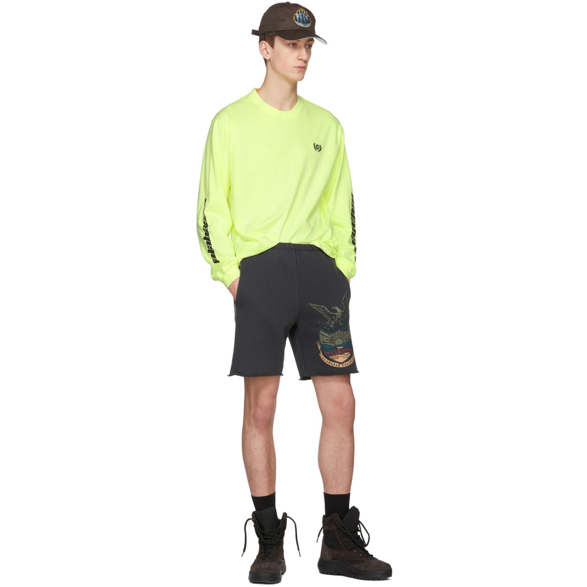 d27912a177f2c Lyst - Yeezy Yellow Long Sleeve Calabasas T-shirt in Yellow for Men