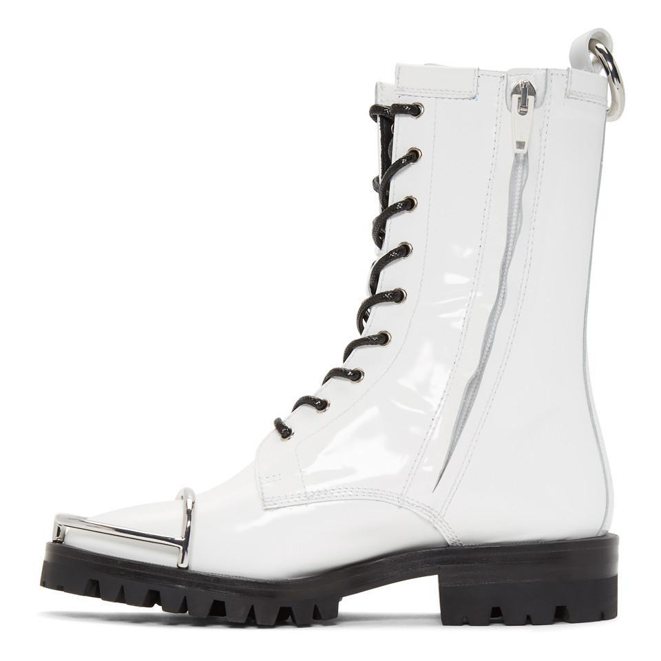 d974b66f66fa Alexander Wang - White Kennah Boots - Lyst. View fullscreen
