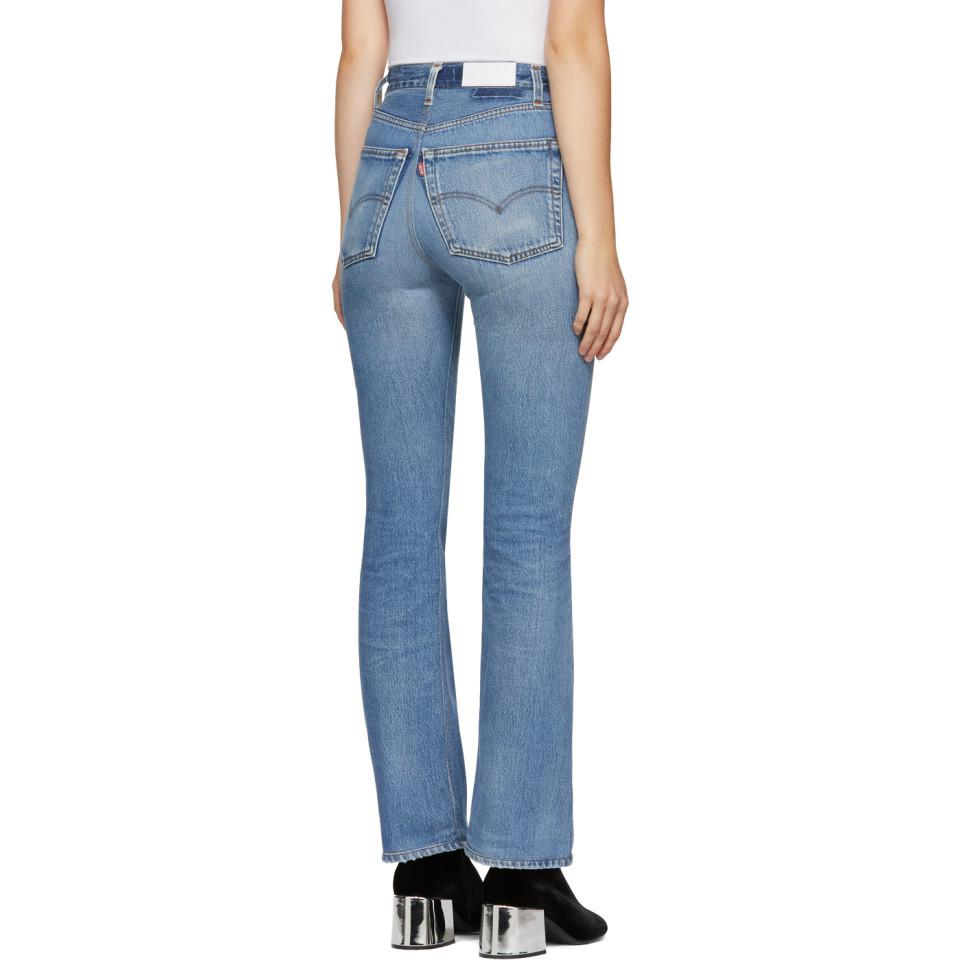 90674db2fe1 RE/DONE Indigo Levis Edition High-rise Bootcut Jeans in Blue - Lyst