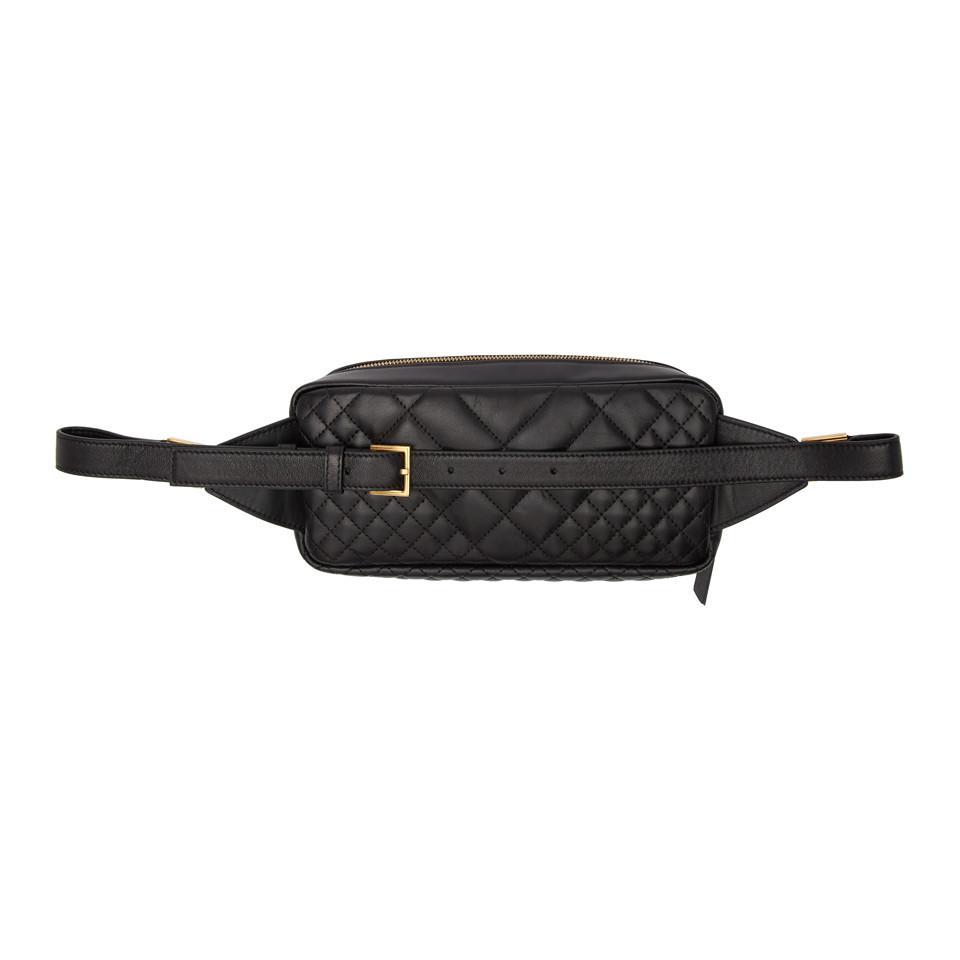 Versace - Black Quilted Medusa Tribute Belt Bag - Lyst. View fullscreen a6f4dd916c704