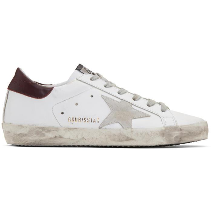 White and Burgundy Superstar Sneakers Golden Goose Release Dates Cheap Online Free Shipping Fake Clearance Ebay NOfqK9cUa