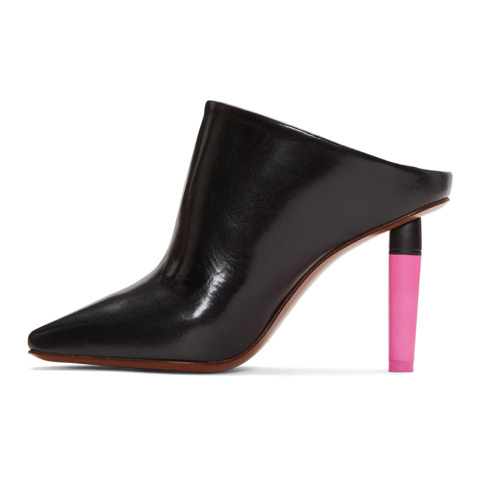 Black and Pink Highlighter Mules VETEMENTS 5Nh8B