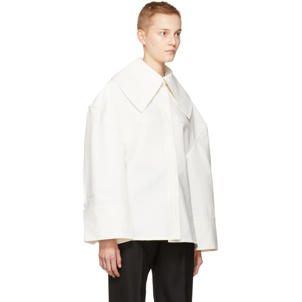 65c12b6a6f5 Jacquemus Ecru  la Chemise Carrée  Shirt in White - Lyst
