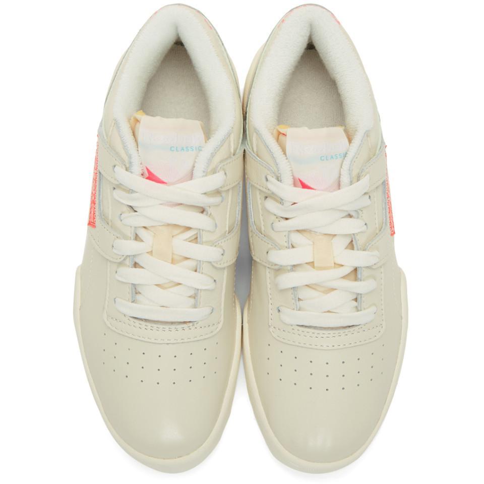4752fe55eeb83 Reebok - Off-white Workout Ripple Og Sneakers - Lyst. View fullscreen