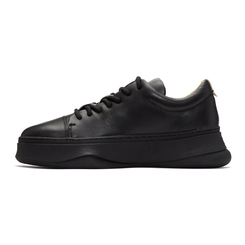 Miharayasuhiro Black Low-Cut Sneakers