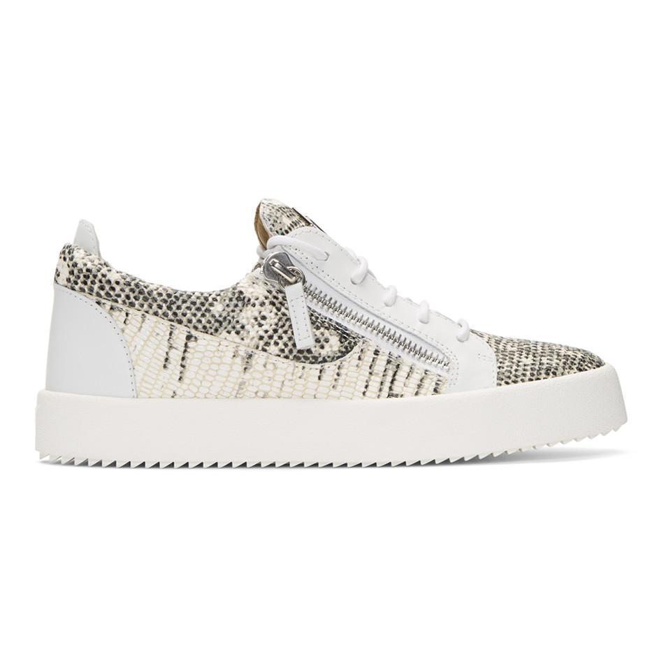Giuseppe Zanotti Black & Off-White May London Sneakers 19WiS2DhV