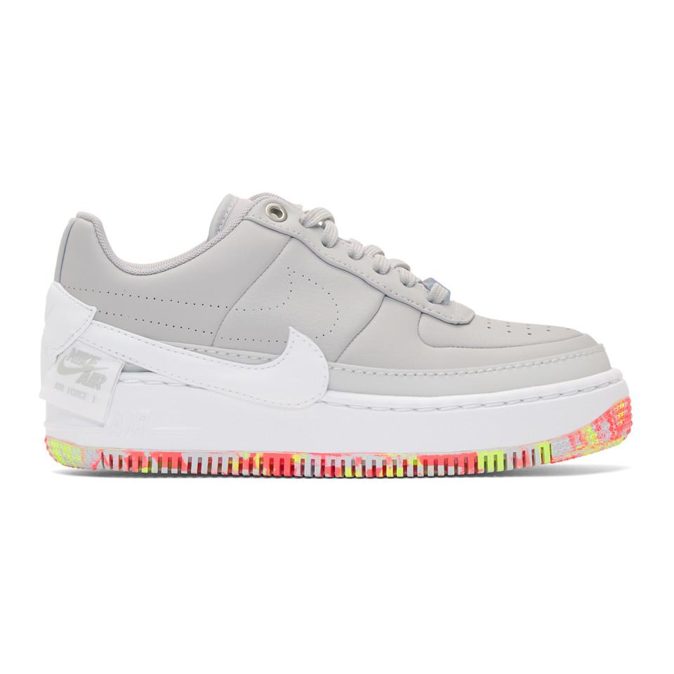best cheap a0f02 01be1 Nike. Women s Gray Grey Air Force 1 Jester Xx Sneakers