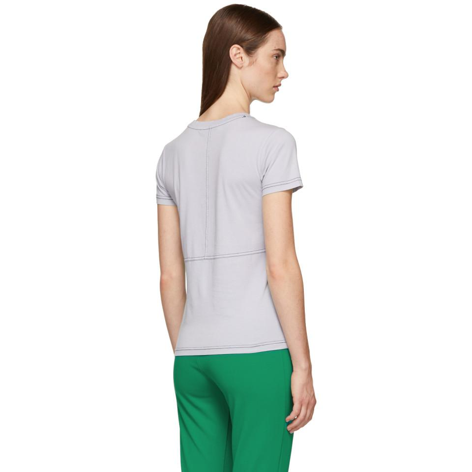 Lyst Acne Studios Purple Tight Logo T Shirt