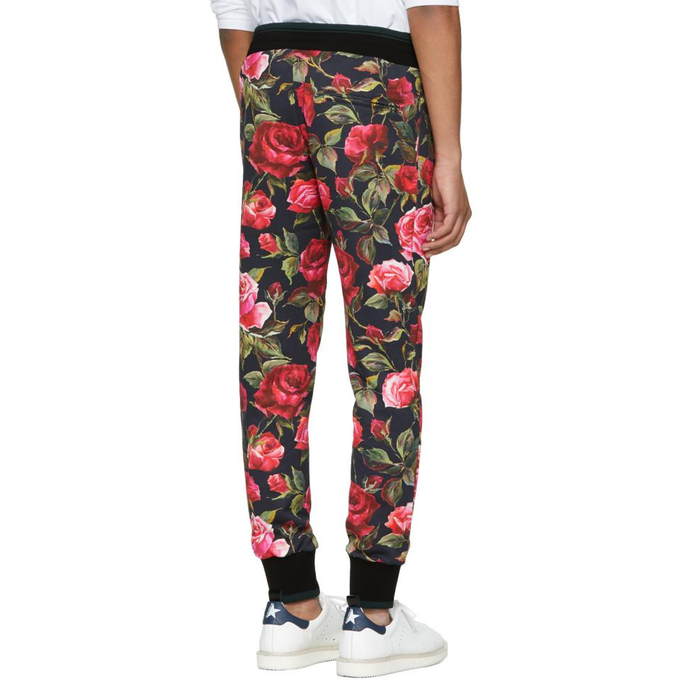 Cheap Sale Manchester Great Sale Black Rose Sweatpants Dolce & Gabbana Free Shipping 100% Original Buy Cheap Best Wholesale Discount Footlocker gddPxug