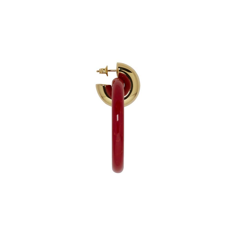 6bd8f98e1 Balenciaga Red Extra Small Hoop Earrings - Lyst