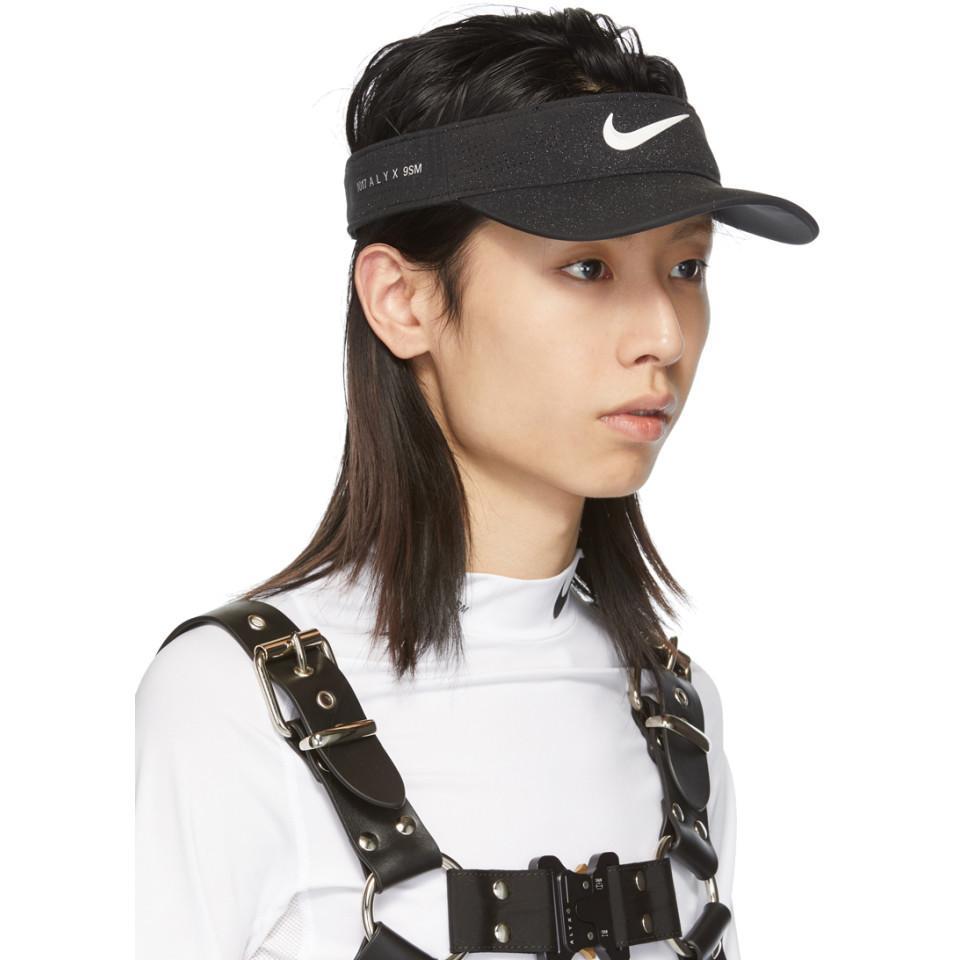 3a7578879 Lyst - 1017 ALYX 9SM Black Nike Edition Golf Visor in Black for Men