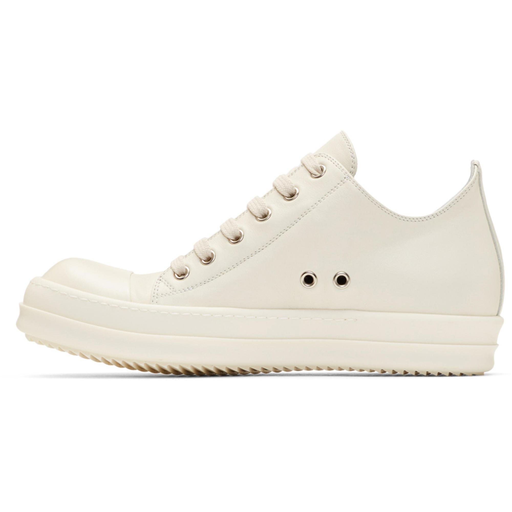 Off-White Leather Low Sneakers Rick Owens juzjB