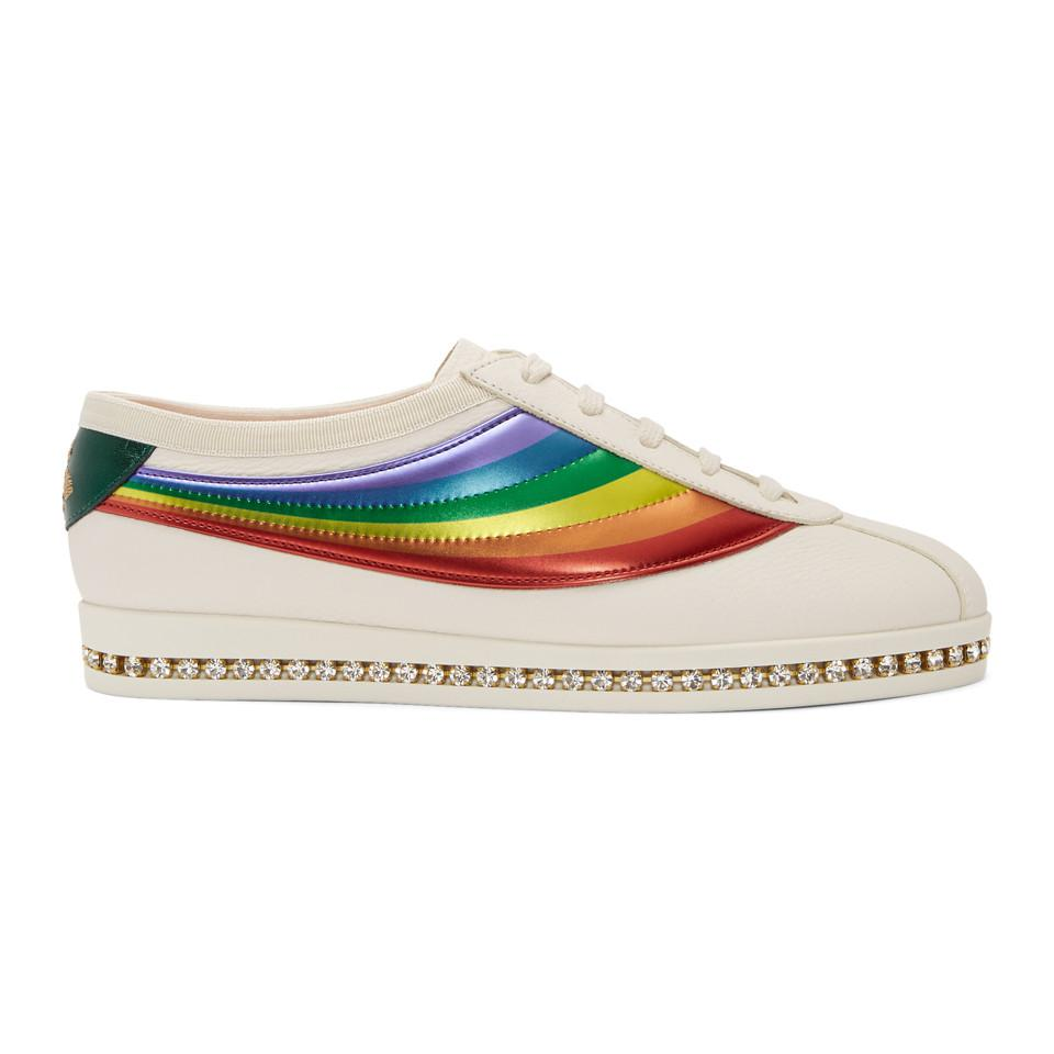 Gucci Crystal Falacer Rainbow Sneakers mtxQTMwGk