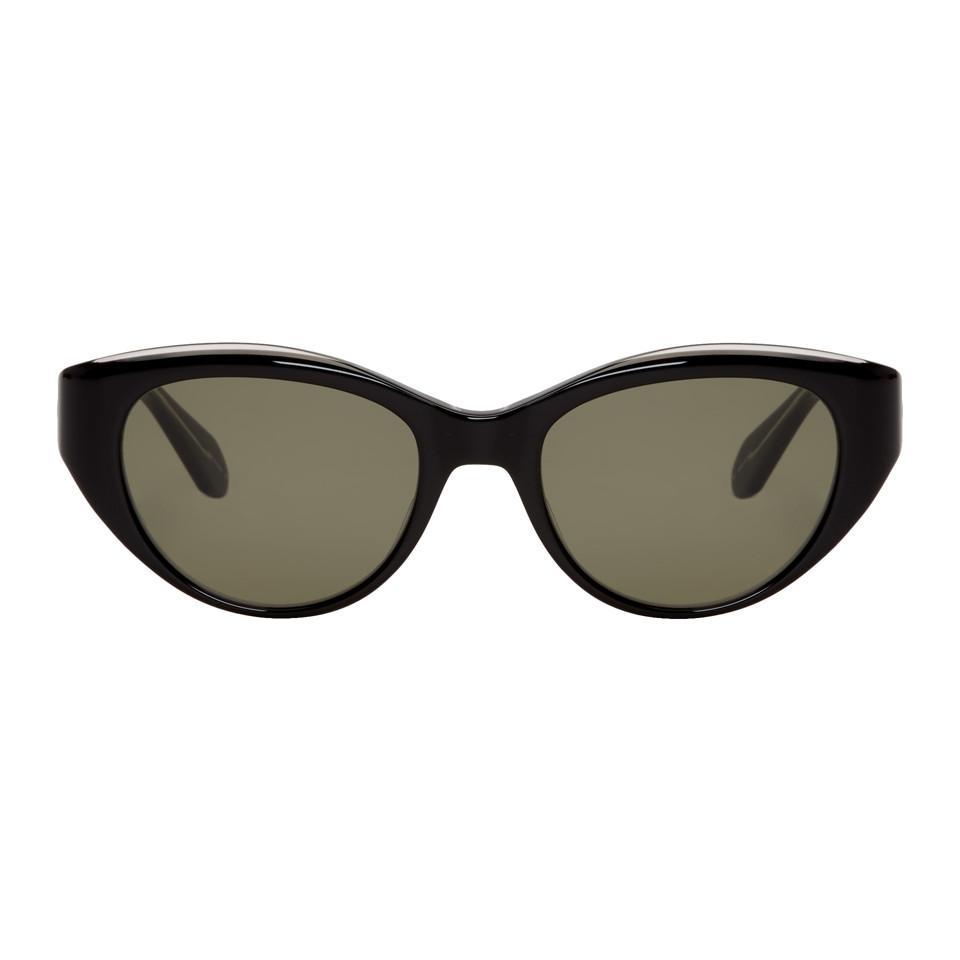 GARRETT LEIGHT Black Del Rey Sunglasses KqRrX