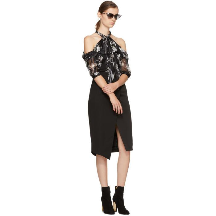 Discount Choice Official Site Cheap Price Black Elin Off-the-Shoulder Blouse Erdem LY2ojQJ