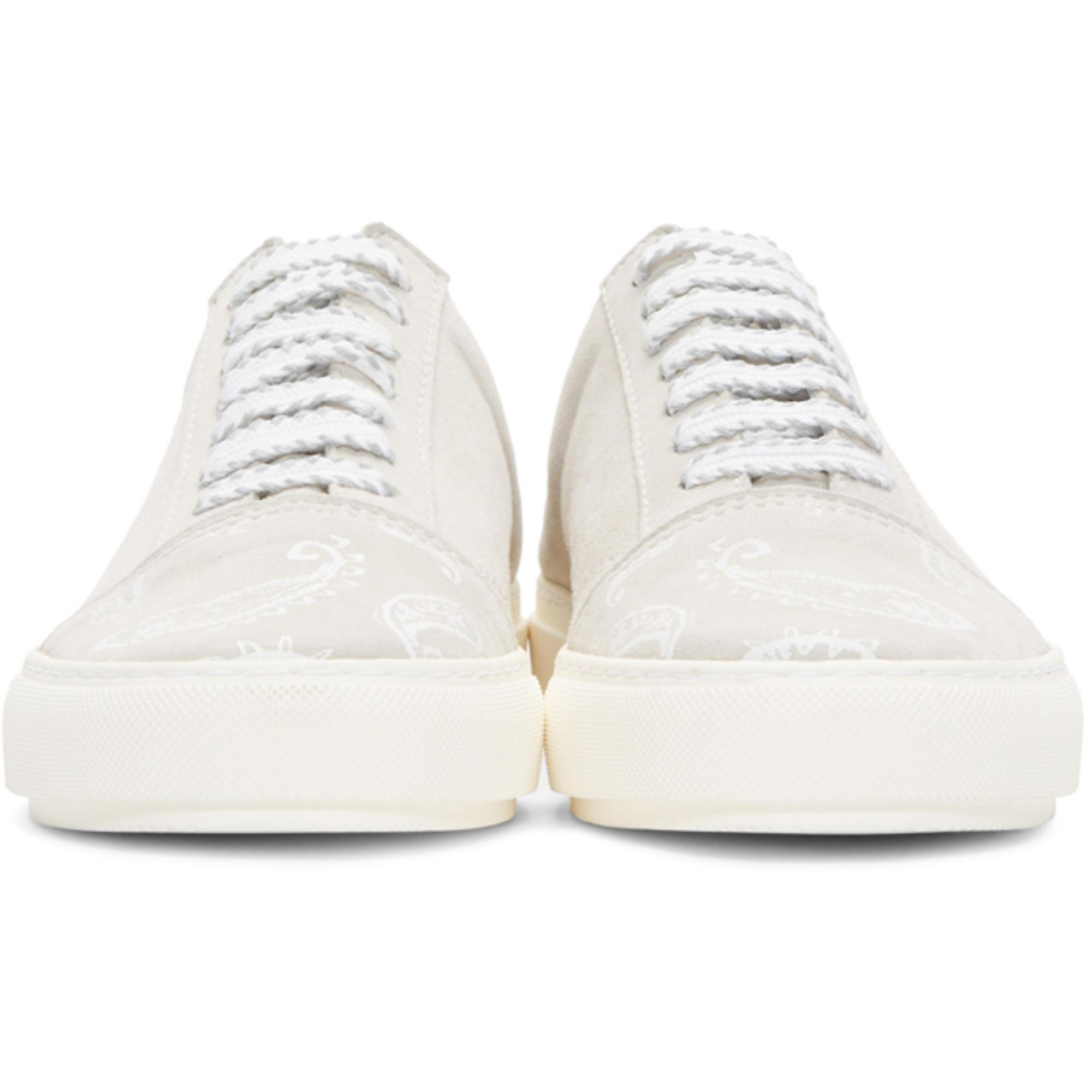 Wooyoungmi Grey Paisley Open Back Sneakers
