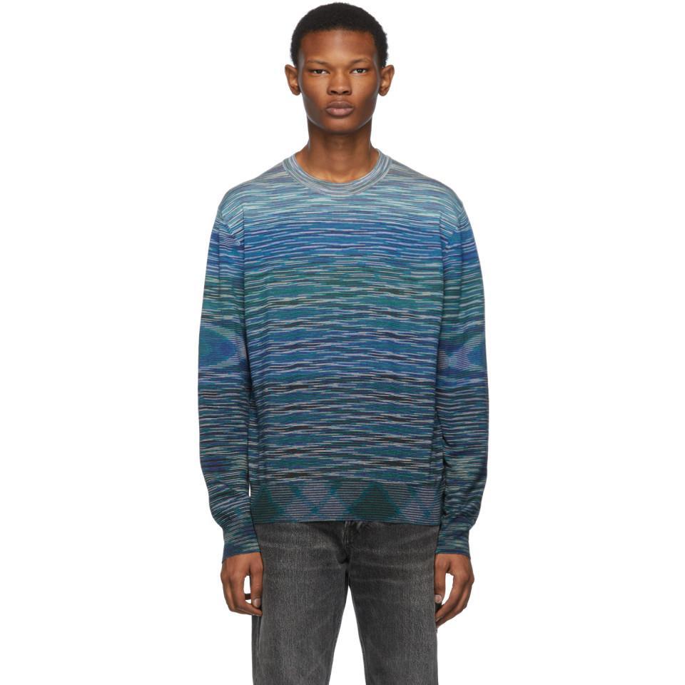 4e1dd03ee77ee Missoni Blue Wool Sweater in Blue for Men - Lyst