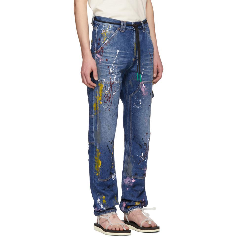 70b72ad96d1 Off-White c o Virgil Abloh - Blue Carpenter Jeans for Men - Lyst. View  fullscreen