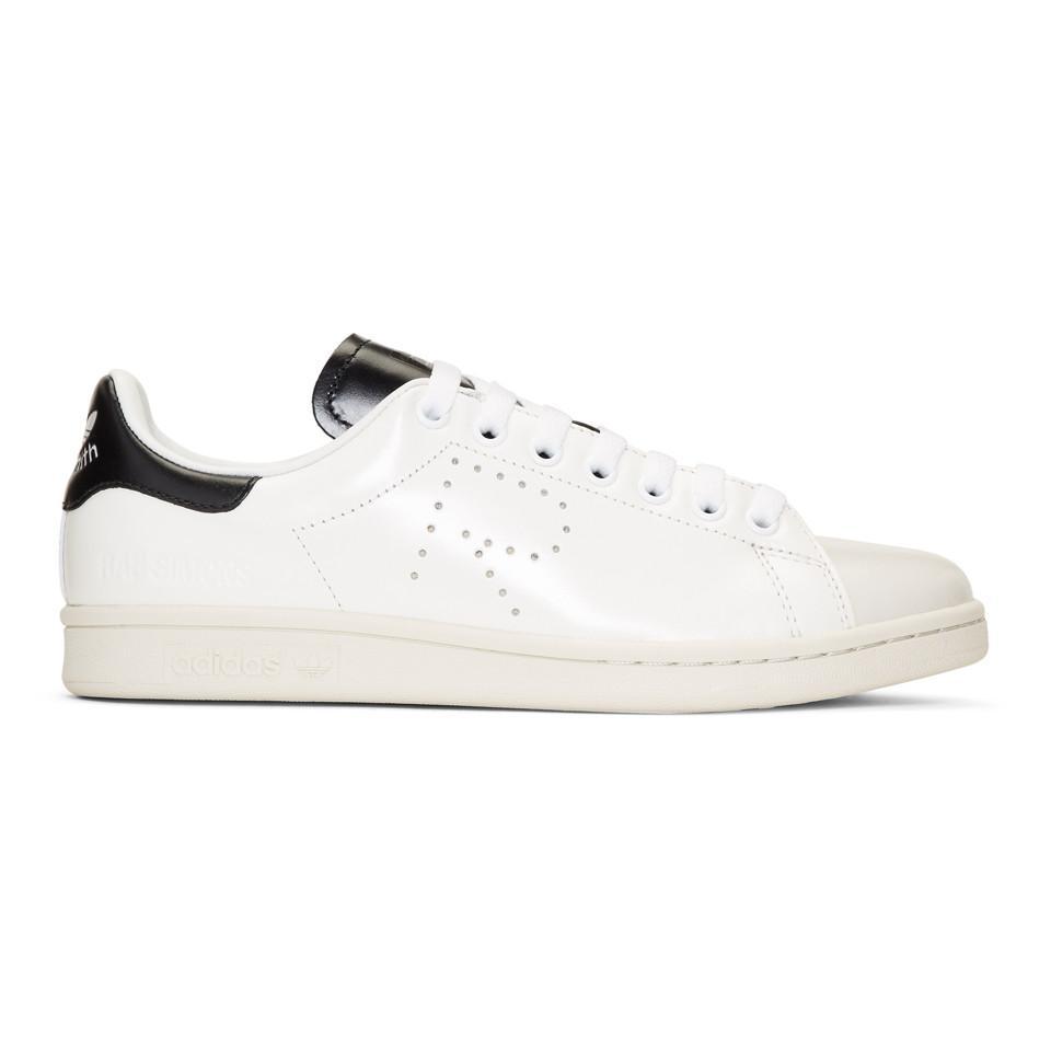 40ab066ab48d Lyst - Raf Simons Off-white   Black Adidas Originals Edition Stan ...