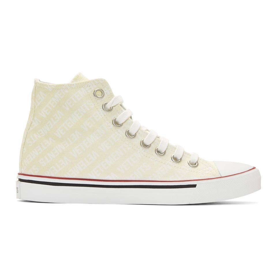 Vetements Off- Canvas Emoji High-Top Sneakers 8PMGC65