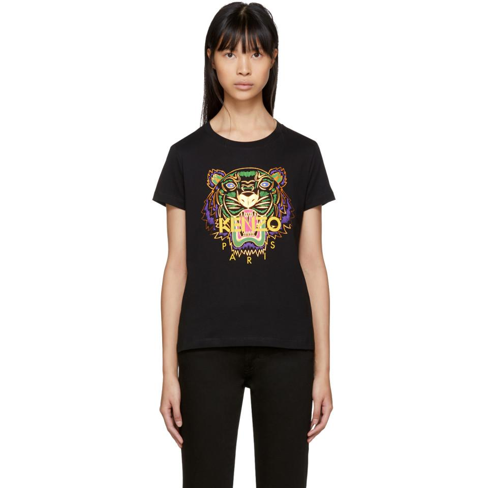 cb5c277f3a7 Lyst - KENZO Black Limited Edition Holiday Tiger T-shirt in Black
