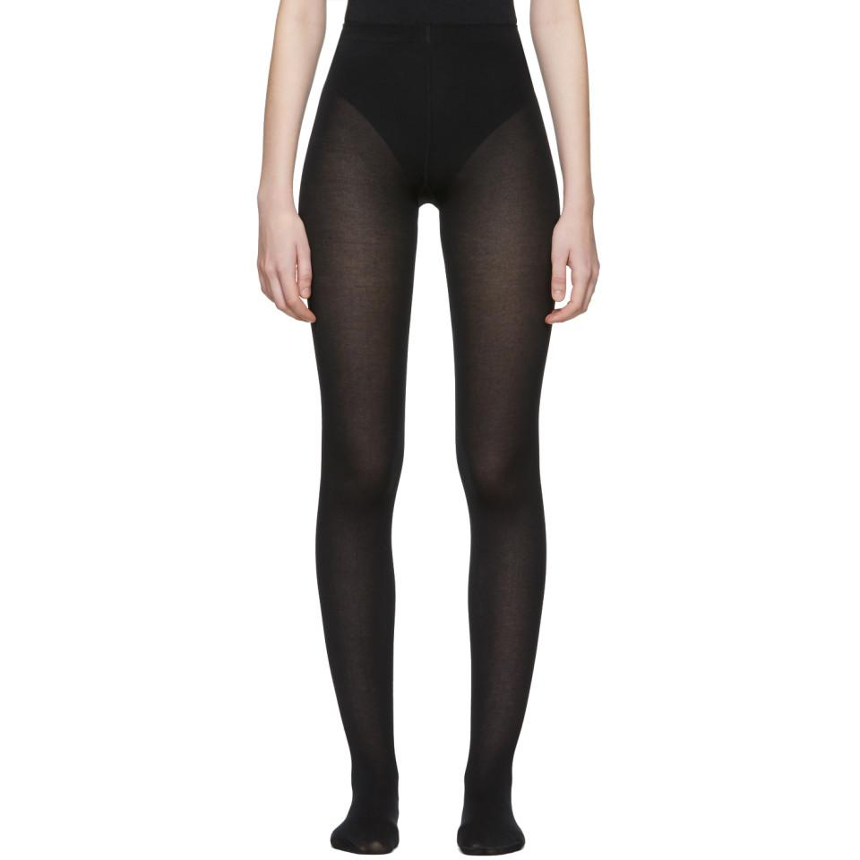 df42ff93ed07c Lyst - Wolford Black Mat Opaque 80 Tights in Black