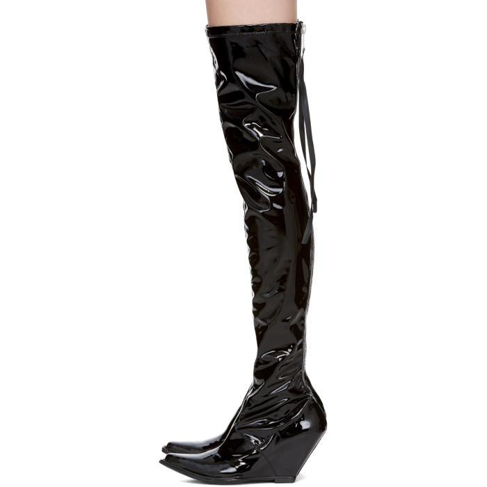 UNRAVEL Latex Zip Over-the-Knee Boot 8nAP9