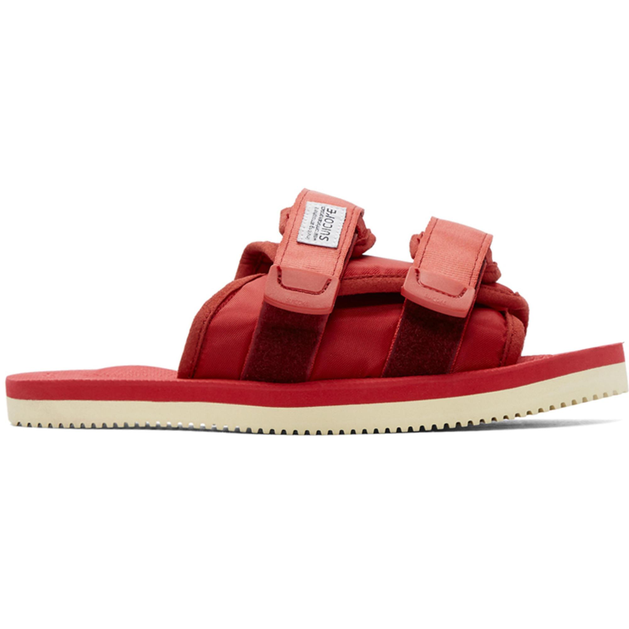 f3b57f19b6f Lyst - Suicoke Ssense Exclusive Red Moto-cab Sandals in Red