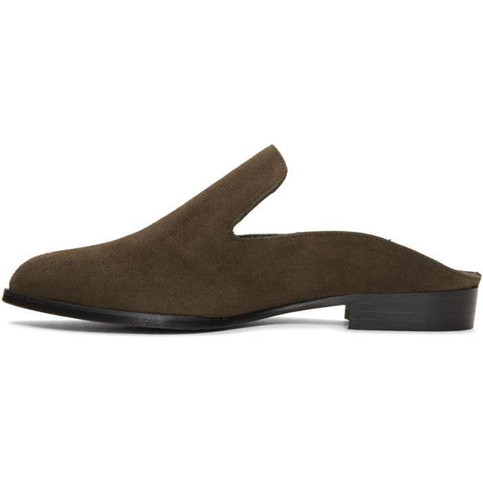 Green Suede Alice Slip-On Loafers Robert Clergerie H3vkXAyWcG
