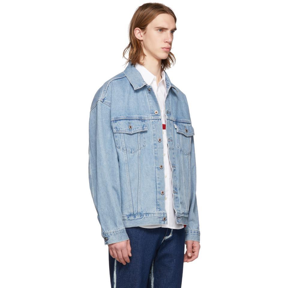 73f8e722 Lyst Levi S Blue Denim Silvertab Trucker Jacket In For Men
