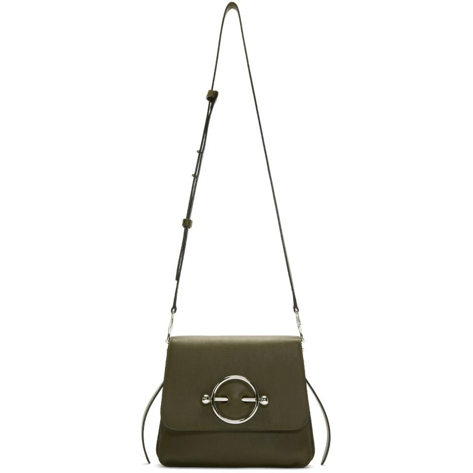 Lyst - JW Anderson Khaki Disc Bag in Natural d03465a4d21be