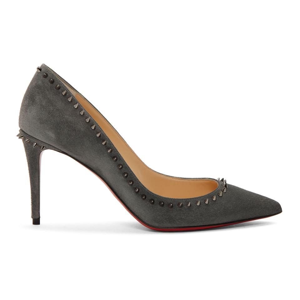a76d1127e83 Christian Louboutin. Women s Grey Suede Anjalina Heels