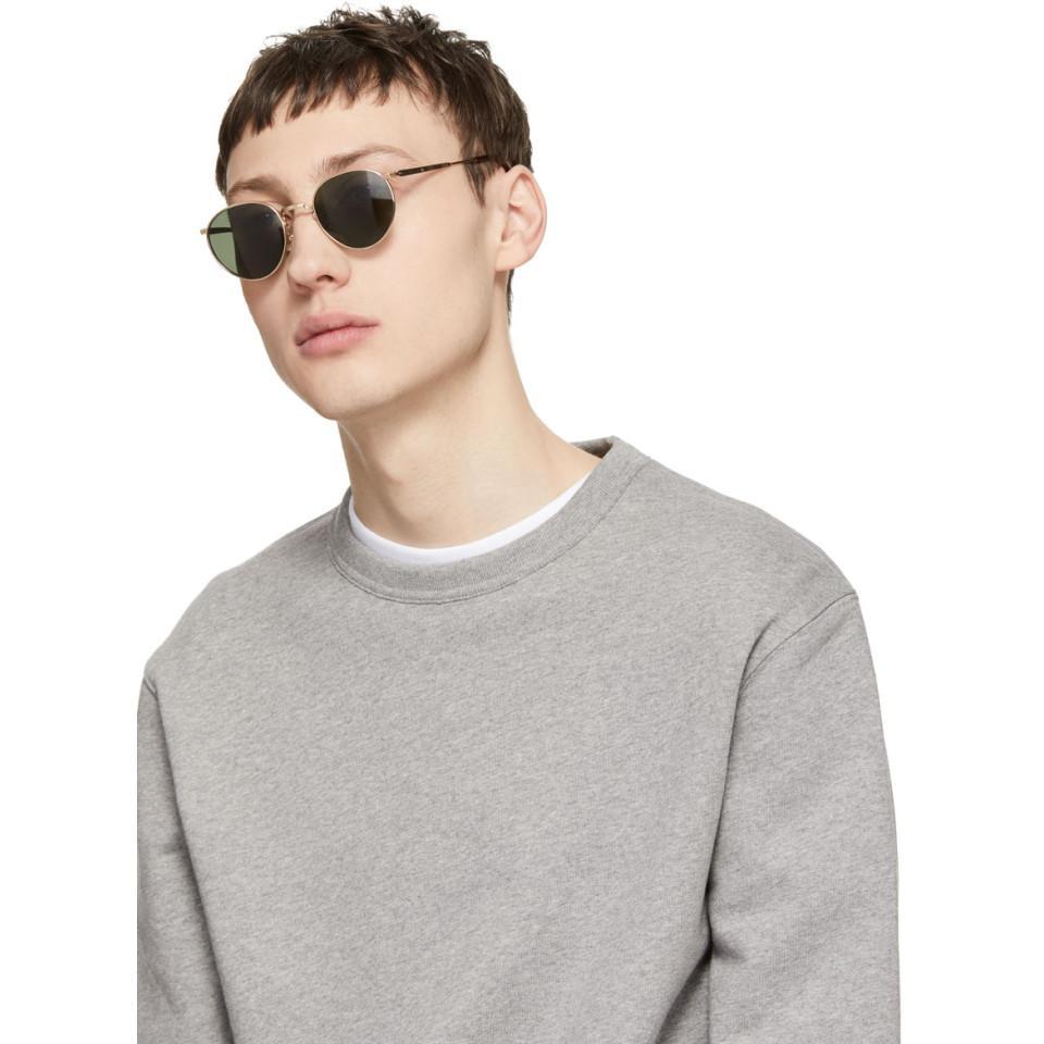 addfb50d41 Lyst - Eyevan 7285 Gold Model E0020 Sunglasses in Metallic for Men