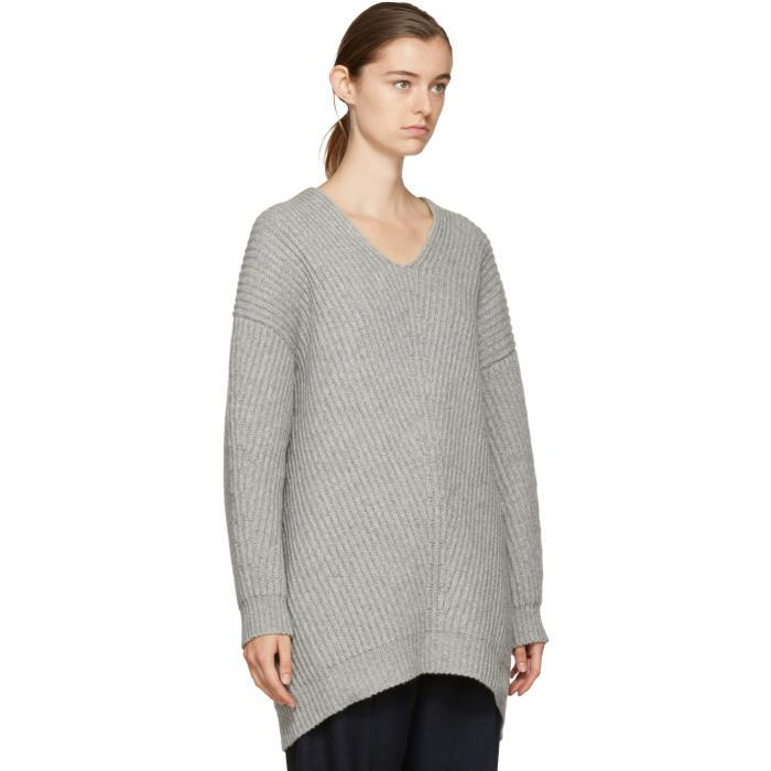 Lyst - Acne Studios Grey Deka Sweater Dress in Gray d33a1b7a1