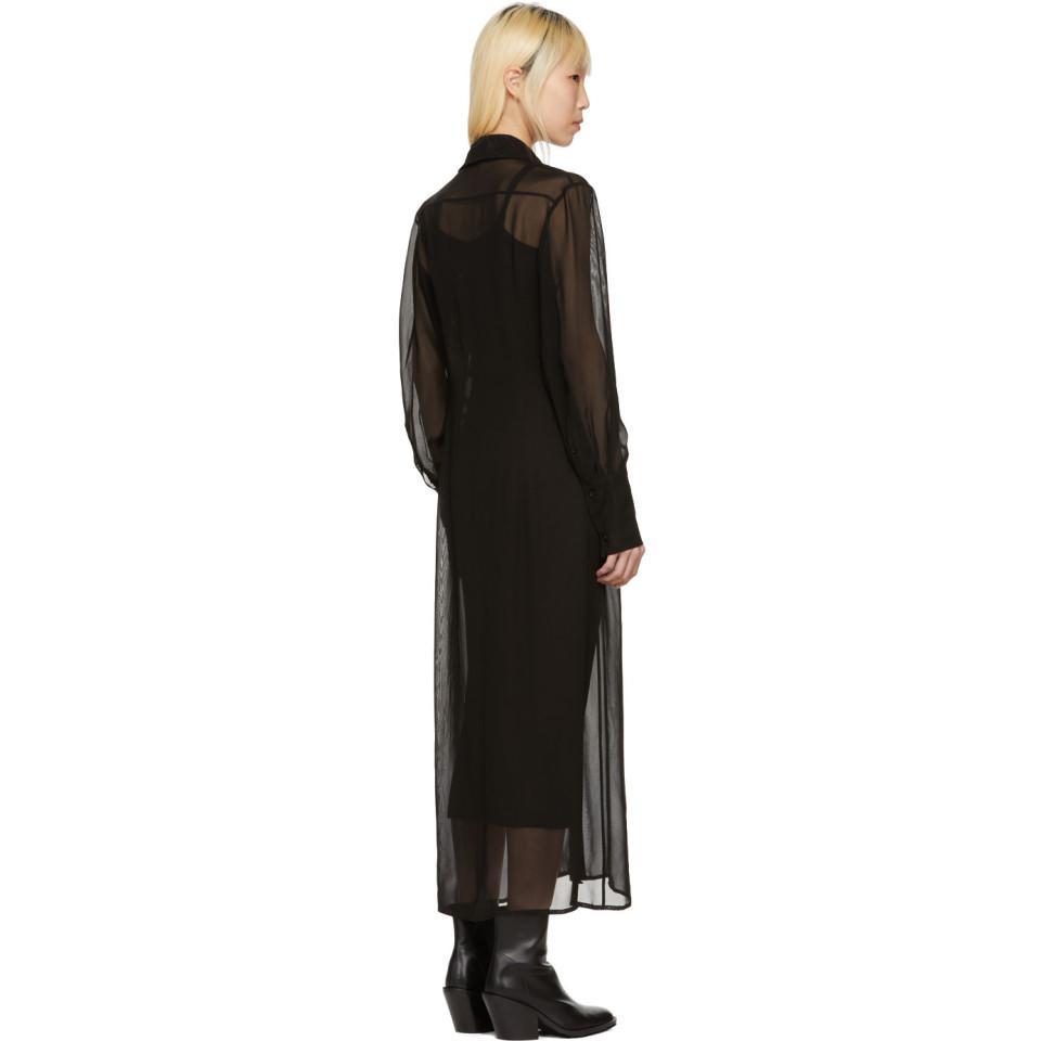 Black Floor-Length Shirt Dress Yang Li FeEQwBGwm