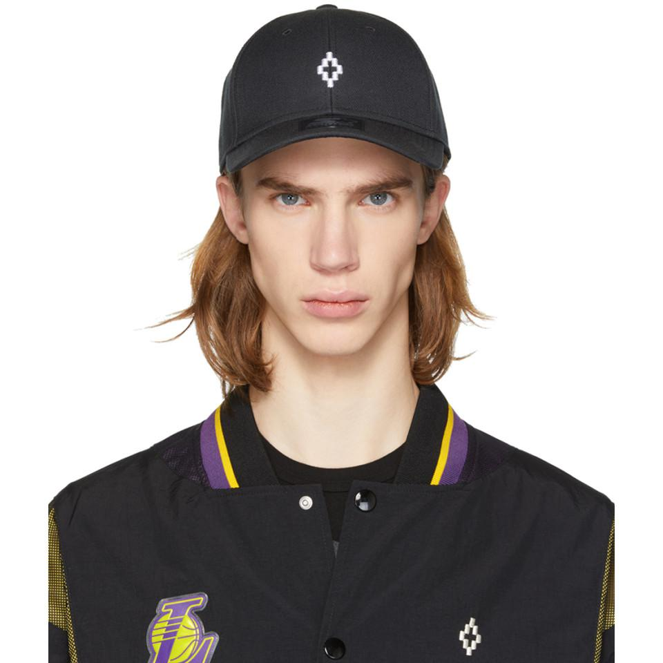 1fc4a8d014c Lyst - Marcelo Burlon Black Starter Edition Cross Cap in Black for Men